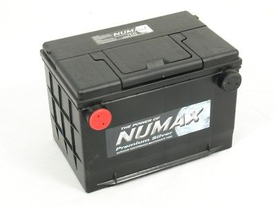 Numax 78-630 12 Volt 70 Ah 630 CCA 3 Year Warranty Premium U.S. Size Car Van Battery