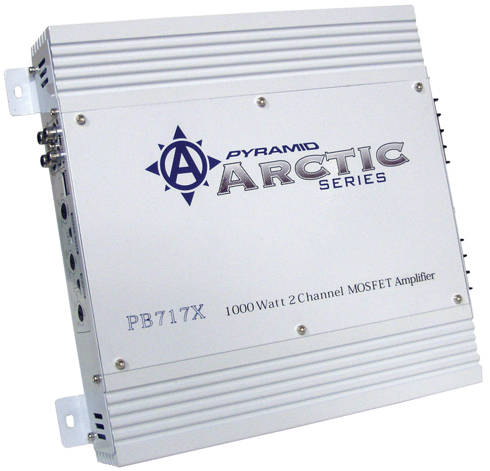Pyramid Arctic 2 Ch Two Channel 1000w Bridgeable Car Speaker Amplifier Amp