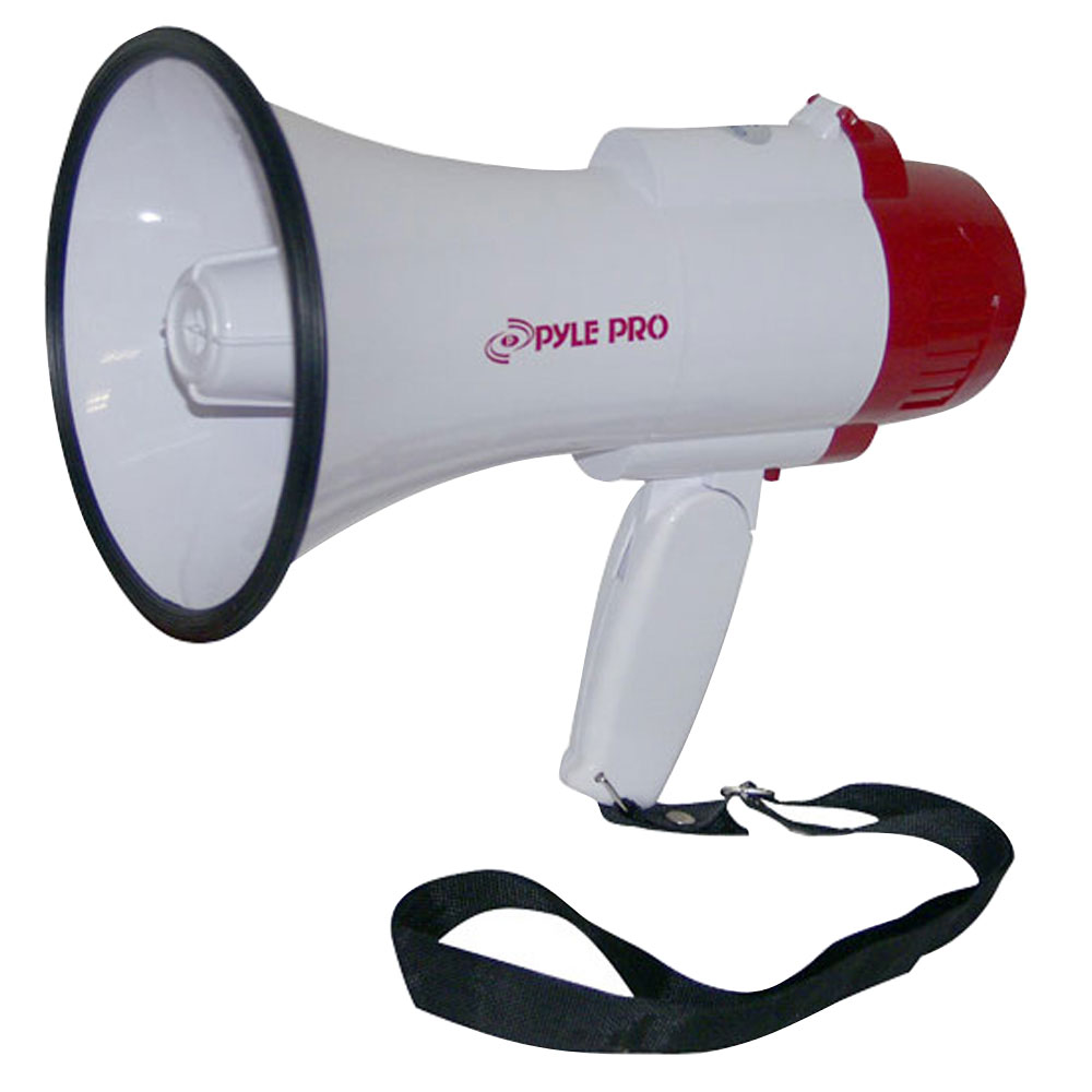 Pyle Pro Megaphone Strap Mega Phone 30w Pistol Grip Loud Hailer Speaker Record