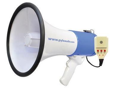 Pyle Pro Megaphone & Strap Mega Phone 50w Pistol Grip Loud Speaker With Aux In Thumbnail 2