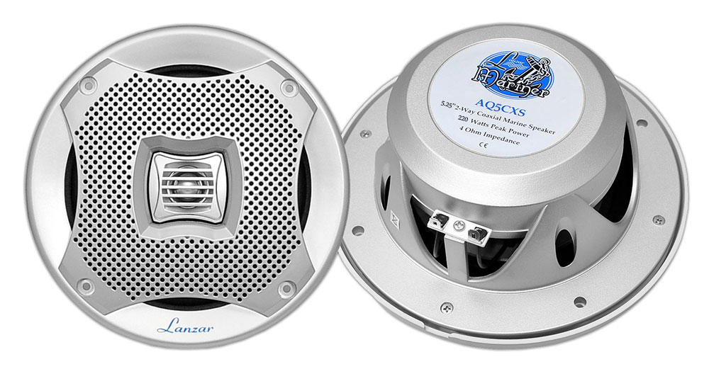 "Lanzar WaterProof Outdoor Boat Patio Marine 5.25"" In Wall Cabin Speakers"