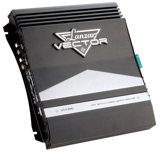 Lanzar Vector 2 Ch Two Channel 1000w Black Bridgeable Car Speaker Amplifier Amp