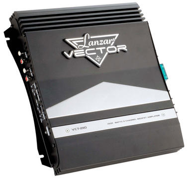 Lanzar Vector 2 Ch Two Channel 1000w Black Bridgeable Car Speaker Amplifier Amp Thumbnail 1