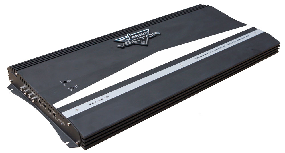 Lanzar Vector 2 Ch Two Channel 6000w Black Bridgeable Car Speaker Amplifier Amp