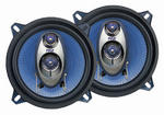 "Pyle Blue 5.25"" 13cm 130mm 400w Car Door Shelf Three Way Coaxial Speakers Pair"