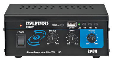 Pyle Pro Home DJ IPOD IPHONE Stereo Hifi Party Mini USB Amplifier Amp System Thumbnail 2