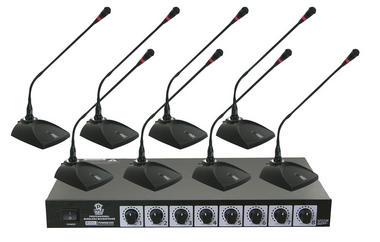Pyle Pro Eight VHF DJ Wireless Conference Desktop Desk Mics Microphone System Thumbnail 2