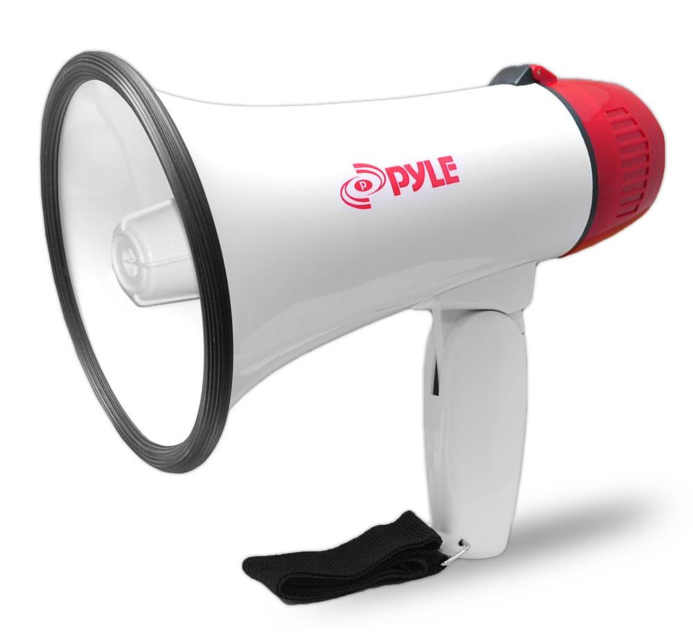 Pyle Pro Megaphone Strap Mega Phone 30w Pistol Grip Loud Hailer Speaker Siren