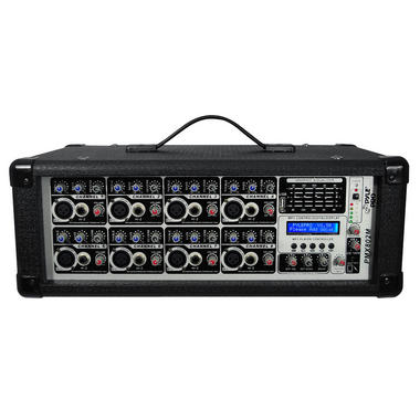 Pyle PMX802M 8 Channel 800w Powered Active Amplified DJ Mixer Amp MP3 USB Thumbnail 2