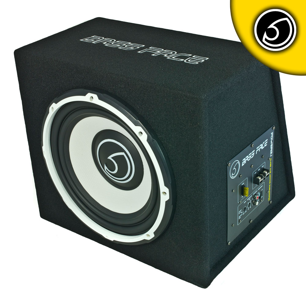 "Bassface POWER12.1 1300w 12"" Inch Active Car Sub Amp Amplifier Powered Bass Box"