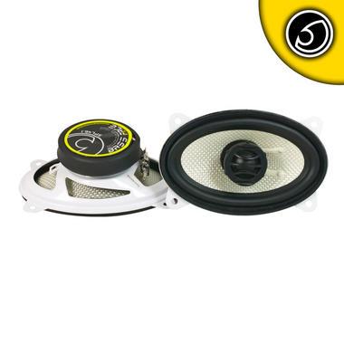 "Bassface SPL46.1 300w 4x6"" Inch 10x15cm Coaxial 2Way Car Door Dash Speakers Pair Thumbnail 2"