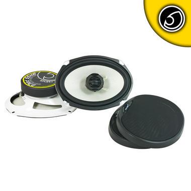 "Bassface SPL69.1 1000w 6x9"" Inch 15x23cm Coaxial 2Way Parcel Shelf Speakers Pair Thumbnail 2"