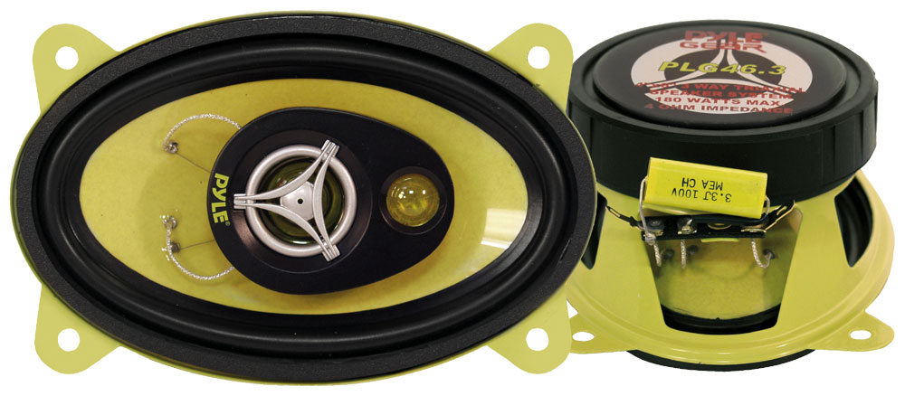 "Car Audio Coaxial Speakers Door 4x6"" Inch 180w Watts 4 Ohm Pyle Pair"
