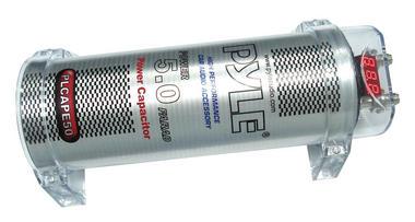 Pyle PCAPE50 5 Farad Car Audio Amp Amplifier Power Cap PowerCap 12v Capacitor Thumbnail 2