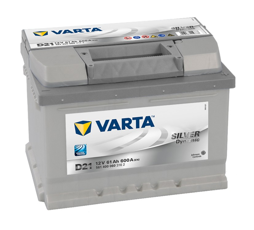 Varta D21 Ford Vauxhall Renault VW 12v Volt 61Ah 600CCA 075 5 Year Car Battery