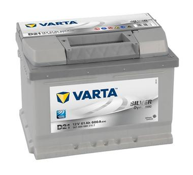 Varta D21 Heavy Duty 12 Volt 075 61Ah 600CCA 5 Year Ford Vauxhall Renault VW Car Battery Thumbnail 1