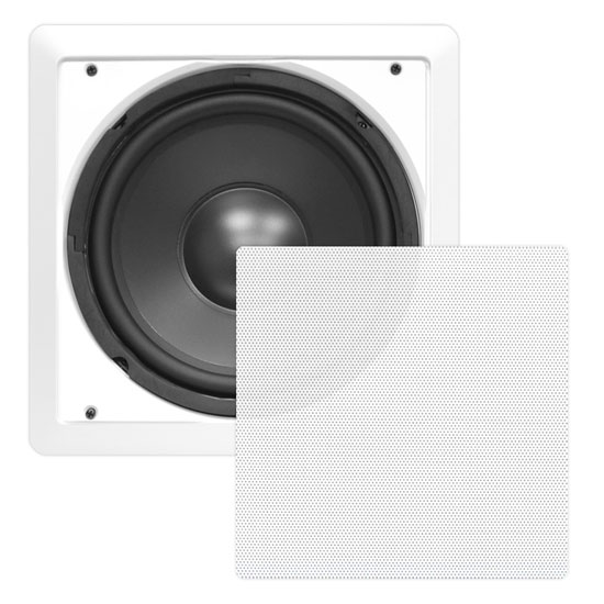 "In Wall Inwall Hi Fi Surround Sound Subwoofer 10"" 5.1 7.1 Sub Cinema Speaker Thumbnail 2"