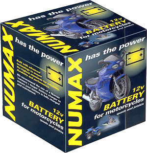 Numax YTX14BS 12v Motorbike Motorcycle Bike Battery Replaces YTX14-BS YTX14-4 Thumbnail 1