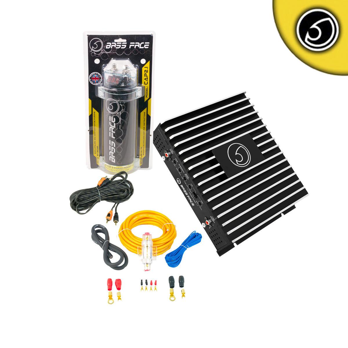 Bassface CAP2.1 DB2.1 800w Car Audio Amplifier 2 Farad Power Cap Wiring Package