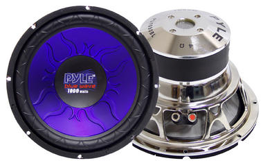 "Pyle Blue 4 Ohm DVC 12"" Inch 1200w In Car Subwoofer Sub Bass Driver Woofer Thumbnail 2"