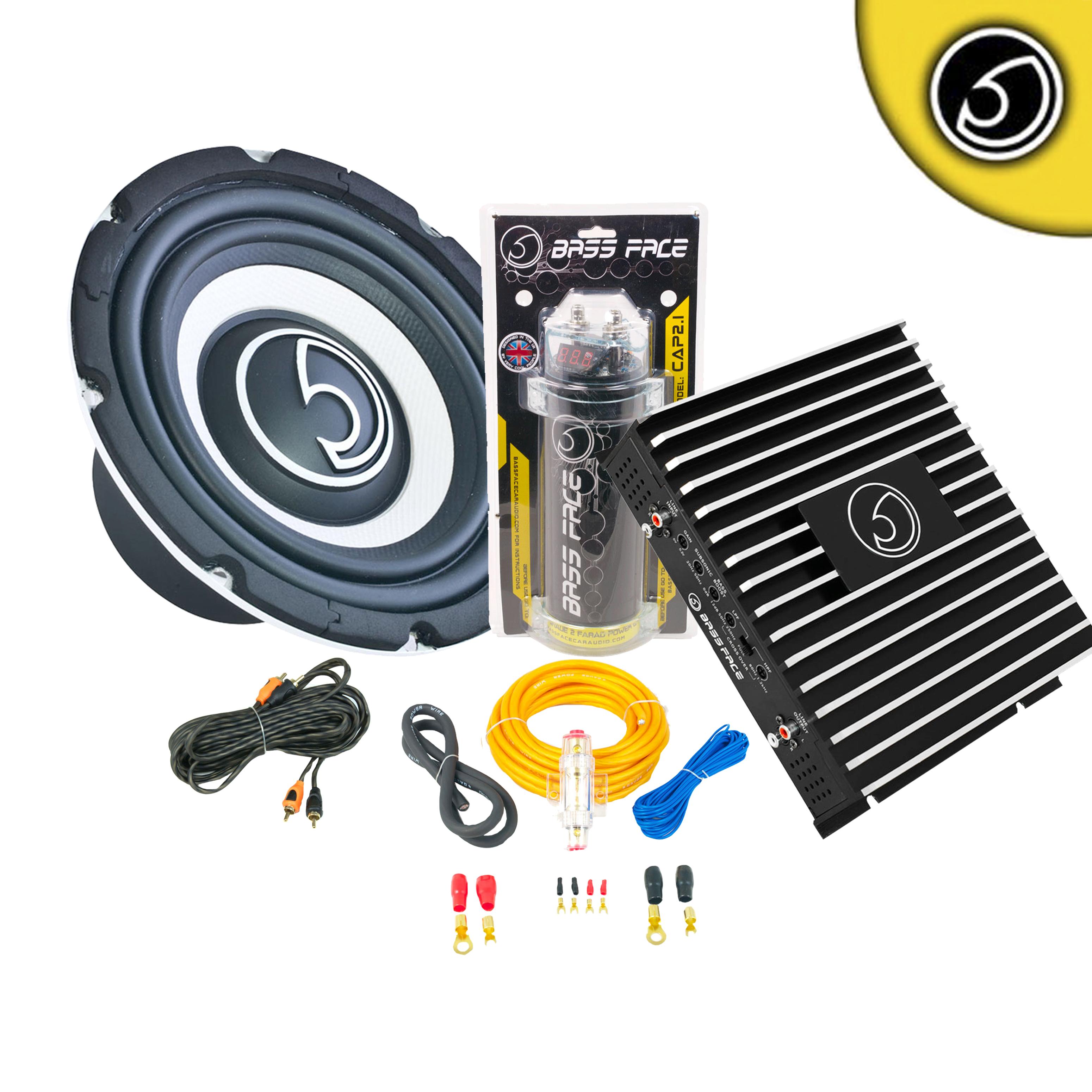 Thompsons Ltd Bassface Spl81 8 Inch 800w Car Audio Sub Subwoofer Edge Amp And Wiring Kit