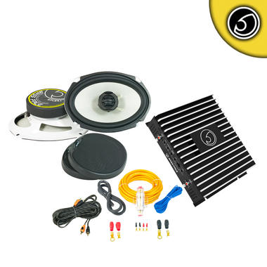 "Bassface DB2.1 SPL69.1 6x9"" Inch 800w Car Audio Coaxial Speakers Amplifier Wiring Kit"