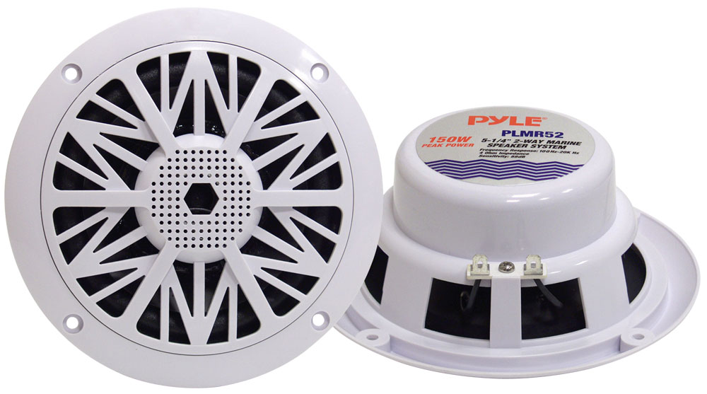 "Pyle WaterProof Outdoor Boat Patio Marine 5.25"" In Wall Cabin Deck Speakers"