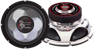 """Pyramid Power Mid Bass Driver 8"""" 4 Ohm 400w In Car Audio Subwoofer Sub Woofer Thumbnail 2"""