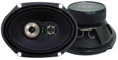 "Lanzar 6x8"" Oval Coaxial 3 Way Pair Of Car Door Shelf Speakers 520w Ford Mazda Thumbnail 2"