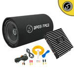 "Bassface BASS10.1 DB2.1 10"" Inch 1100w Car Audio Amplifier Sub Subwoofer Package"