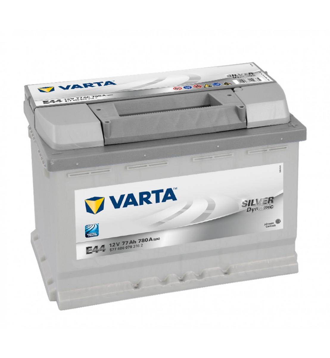 Varta E44 Heavy Duty 12 Volt 096 77Ah 780CCA 5 Year Alfa Audi Citreon Fiat Merc Car Battery