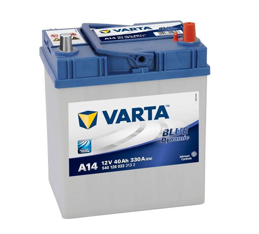 Varta A14 Heavy Duty 12 Volt 054 40Ah 330CCA 4 Year Suzuki Toyato Honda Car Battery
