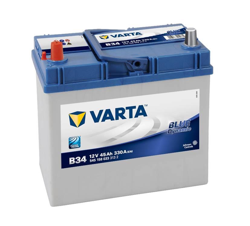 Varta B34 Heavy Duty 12 Volt 057 45Ah 330CCA 4 Year Honda Toyota Hyundai Car Battery