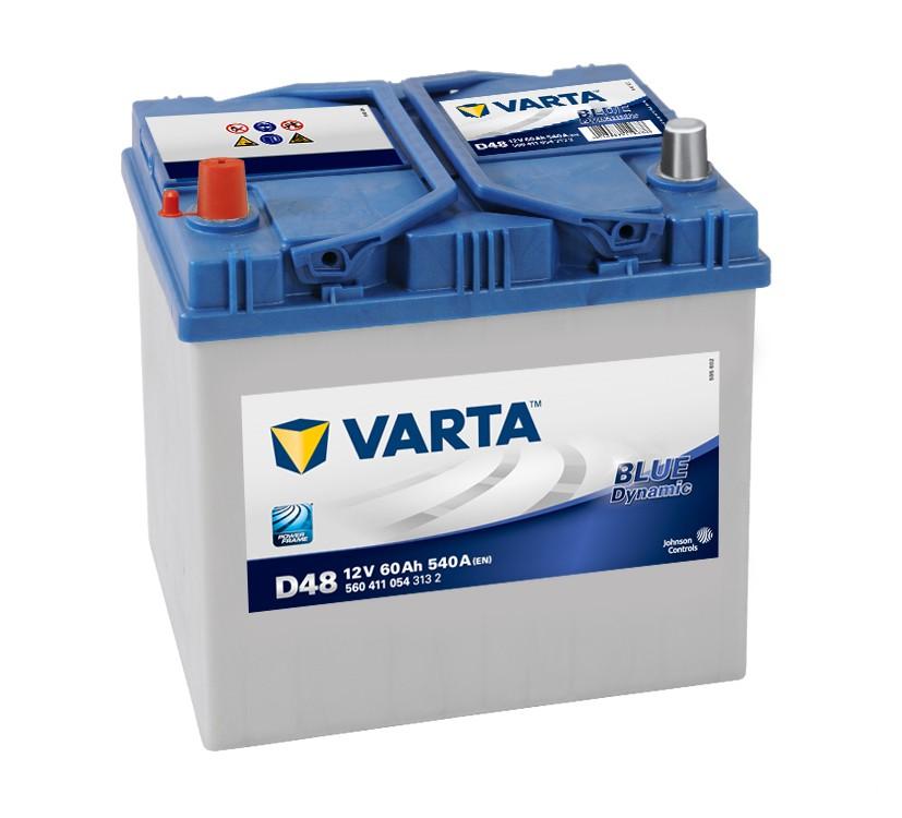 Varta D48 Heavy Duty 12 Volt 014 / 005R 60Ah 540CCA 4 Year Daewoo Honda Kia Mazda Subaru Car Battery