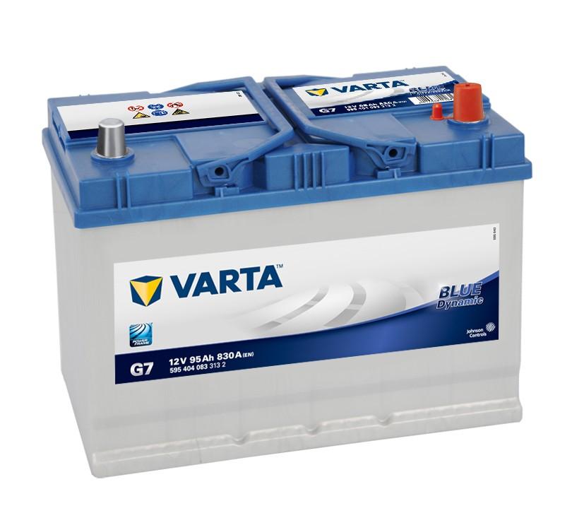 Varta G7 Nissan Toyota Mazda 12v Volt 95Ah 830CCA 335 / 249H 4 Year Car Battery