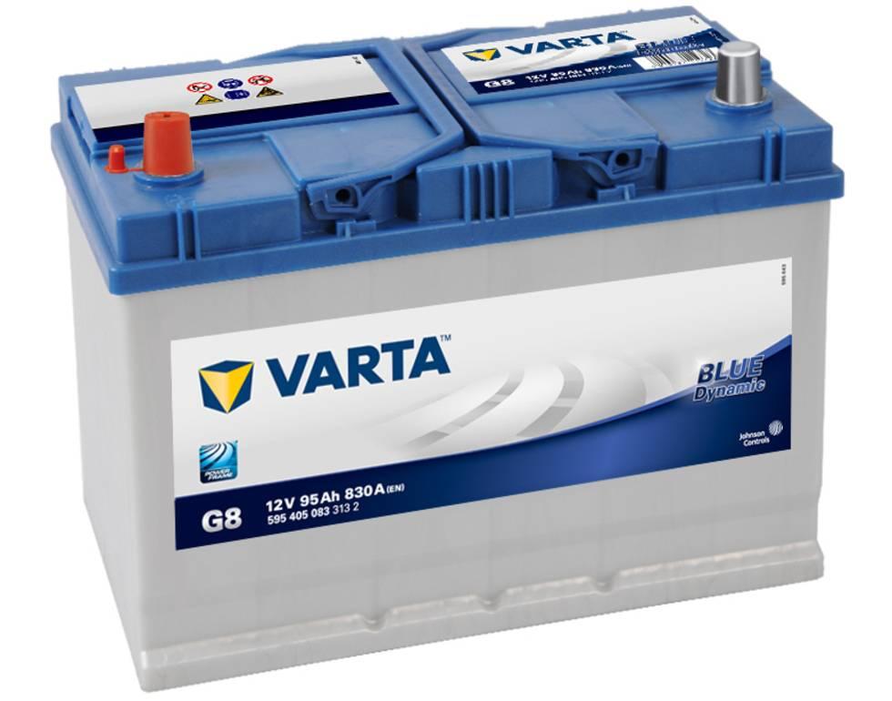 Varta G8 Heavy Duty 12 Volt 334 / 250H 95Ah 830CCA 4 Year Daewoo Mazda Mitsubishi Toyota Car Battery