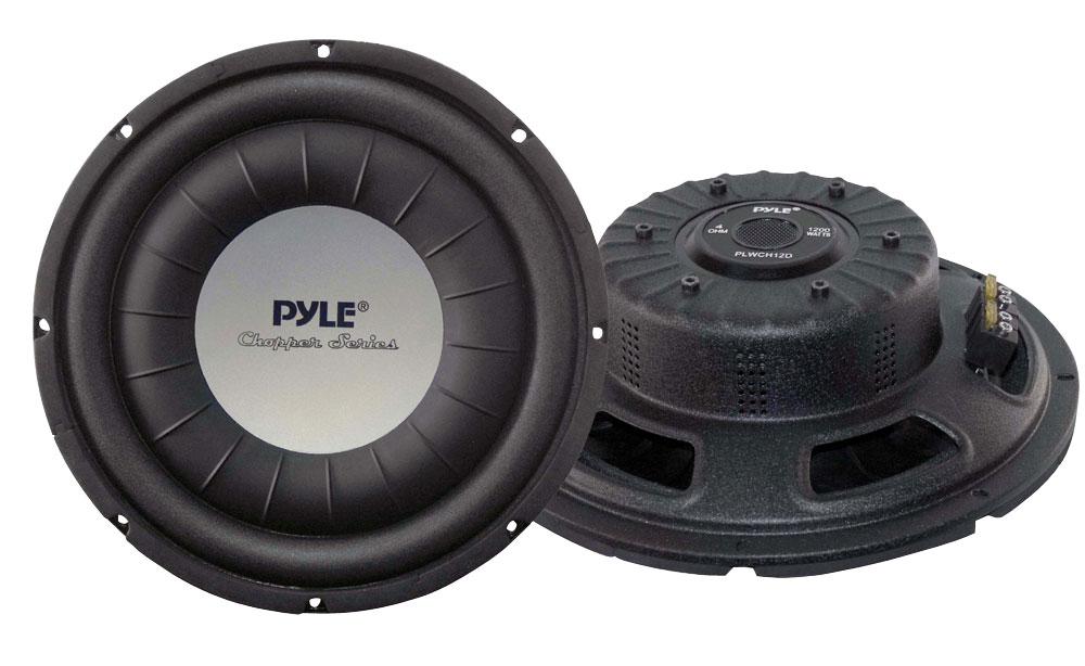 "Pyle Chopper 12"" Inch 1200w Slim Shallow Mount Underseat Car Subwoofer Bass Sub"