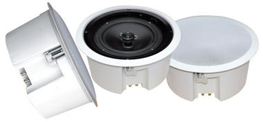 "8"" Two Way In Ceiling 70v Line Speaker Home Audio Cinema Office PA System Thumbnail 2"