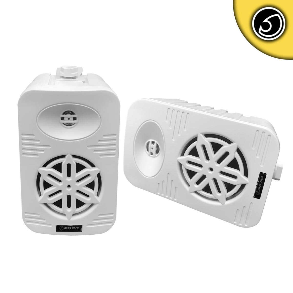 Bassface SPLBOX.2 400w Marine Weatherproof Boat Van Outdoor Box Speakers White
