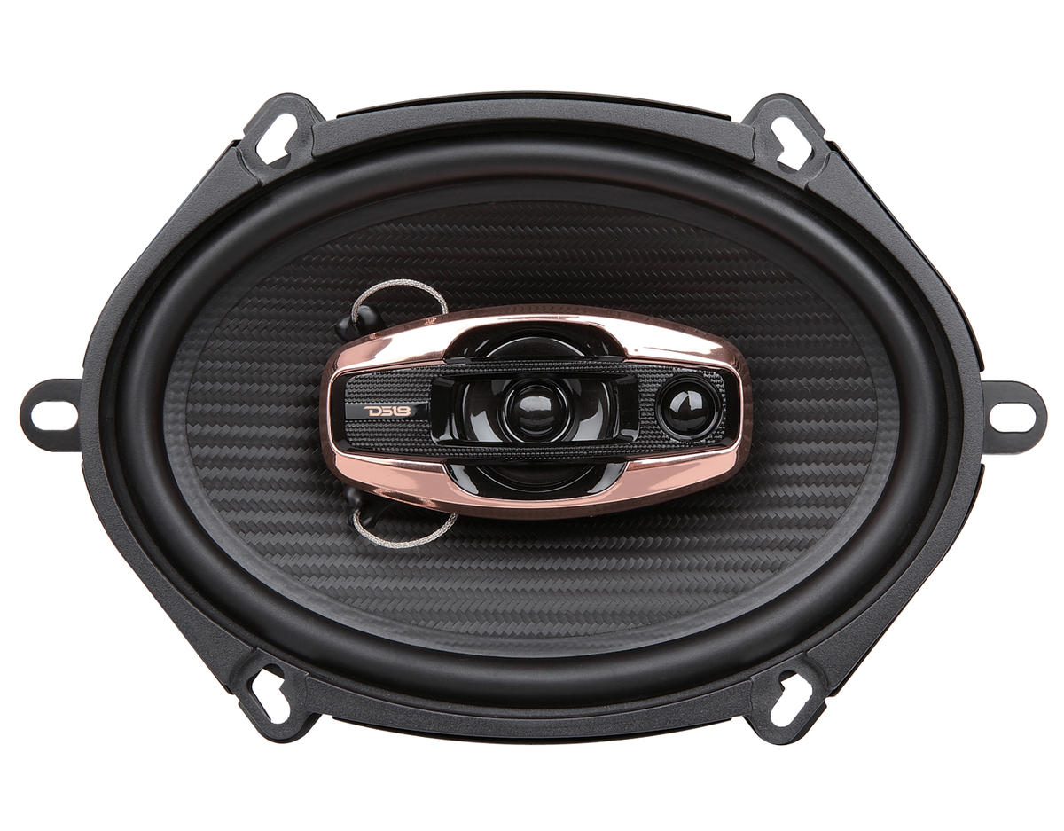 "DS18 BD-G574 Black Diamond 380 Watts 5x7"" Inch Coaxial Speakers Pair"