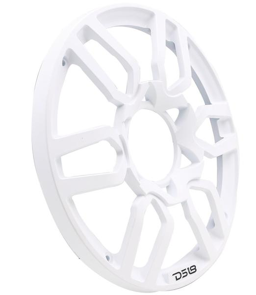 DS18 PRO-GRILL10 WHITE Universal Subwoofer 10-Inch Plastic Grill Cover Pair Thumbnail 1