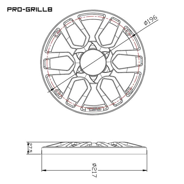 DS18 PRO-GRILL8 WHITE Universal Subwoofer 8-Inch Plastic  Grill Cover Pair Thumbnail 3