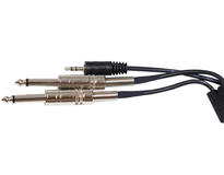 DS18 MP3DUAL1/4-6 6 ft Foot 3.5mm to Dual 1/4 Cable