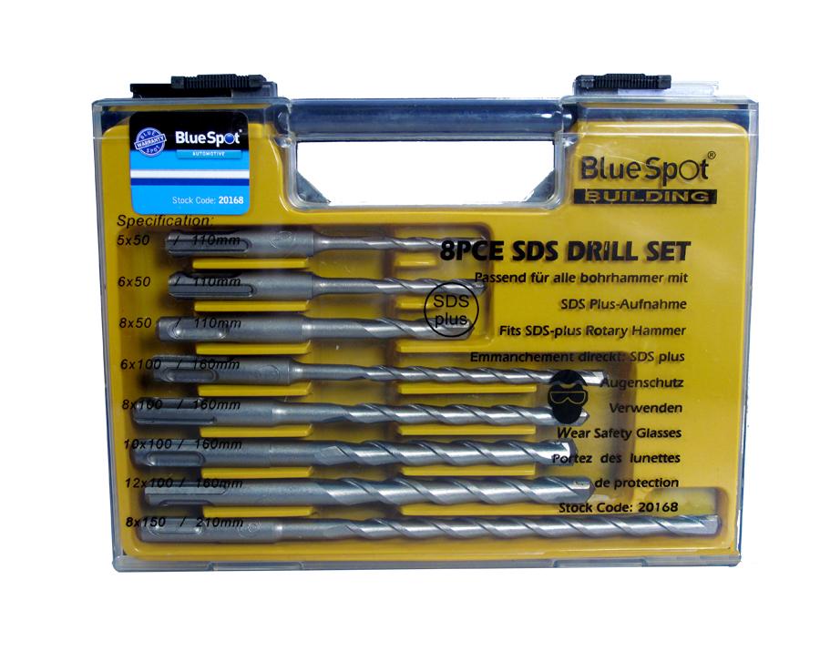 Blue Spot 20168 8 Piece Sds Drill Sets