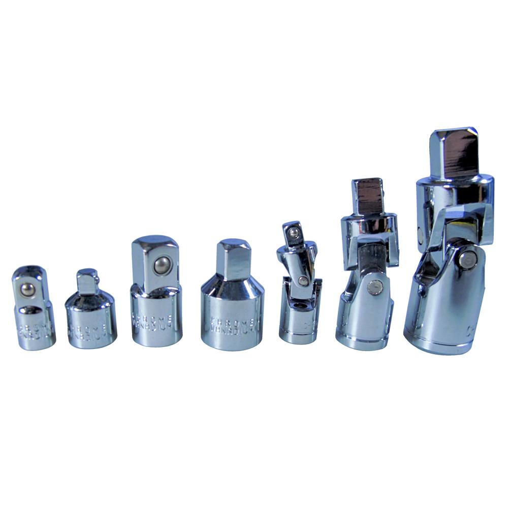 Blue Spot 02076 7 Piece Universal Joint And Adaptor Set Chrome Vanadium