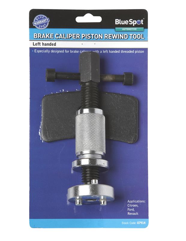 Bluespot 7914 Left Handed Brake Piston Wind Back Tool Single