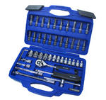 "1/4"" Inch Sockets 46 Piece Garage Workshop Mechanics Tool Set Bluespot 01530"