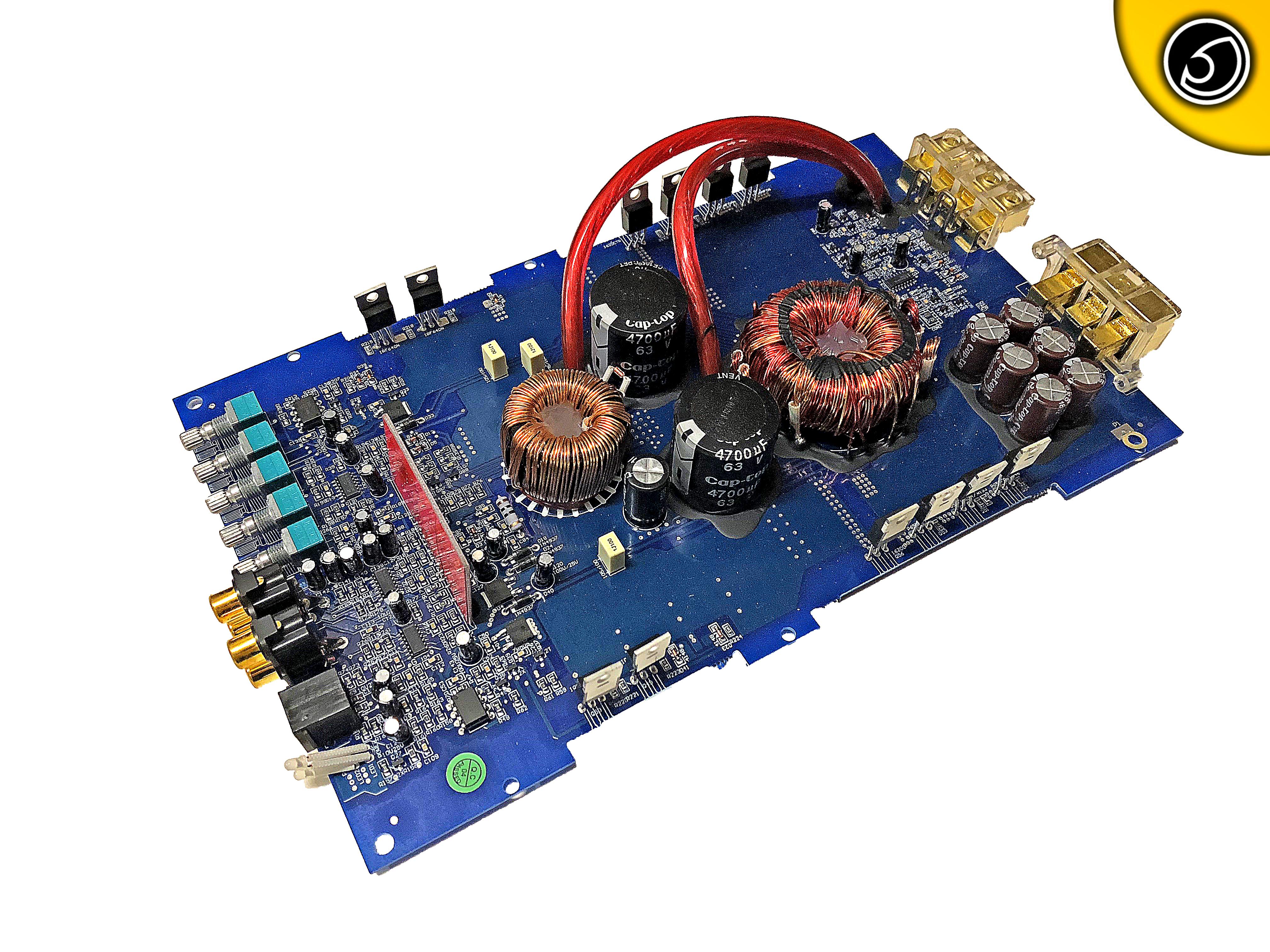 Bassface DB1 1 580w 1Ohm Class D Monoblock Car Subwoofer Amplifier Mono Sub  PCB