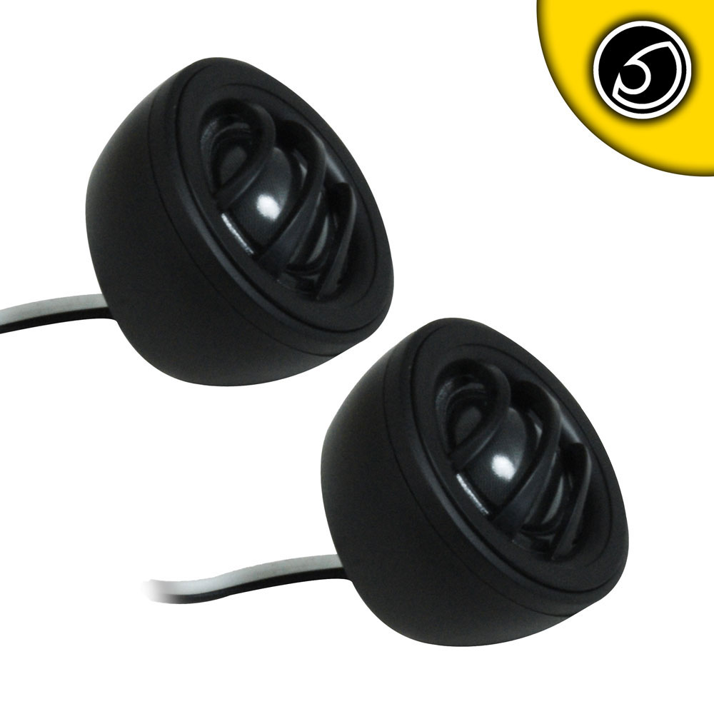 "Bassface BLACKSPLC.1T 300w 1"" Inch 25mm Silk Neodymium Dome Car SQ Tweeters Pair"