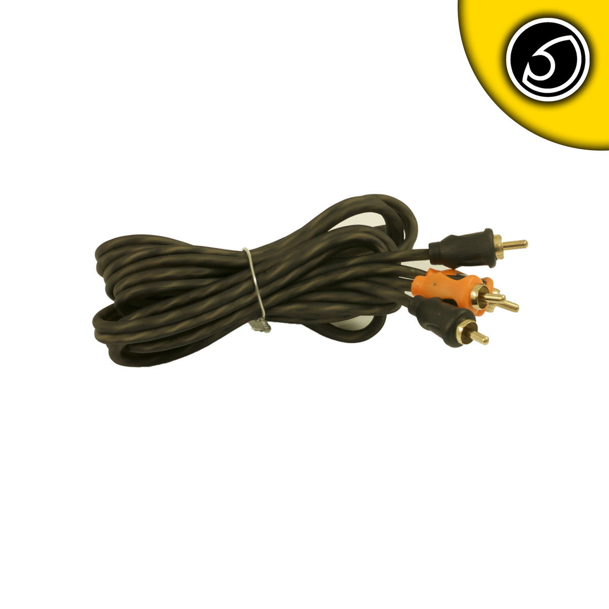 Bassface PRCA2.1 Pure OFC Twist RCA Phono Audio Cable Patch Lead 2 Meter Length